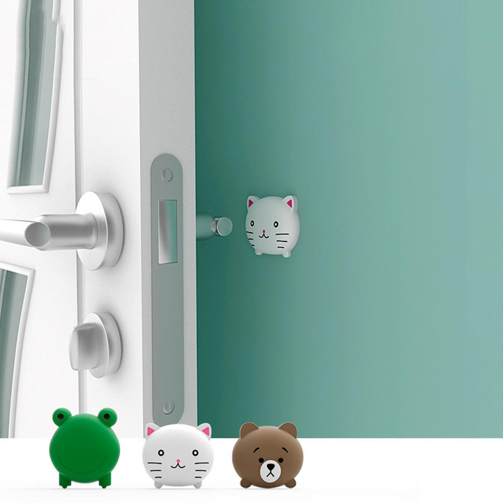 None 3PCS Door Handle Anti-scratch Cushion Cute Cartoon Design Multi-functional Cushion For Door
