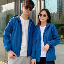 Single Layer Jacket Men and Women Sports Windbreaker Jacket Jacket 2021 New Thin Section Outdoor Spring and Autumn Thermal