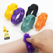 Mini Fidget Toys Rainbow Silicone Wristband Hand Push Bubbles Bracelet for Adult Stress Reliever AntiStress Sensory Toy Gifts
