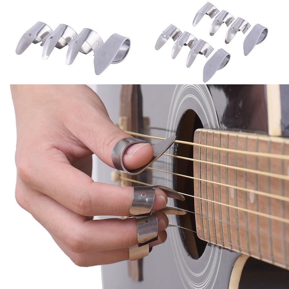 3Pcs Guitar finger picks for acoustic electric guitar S//M//L  4H