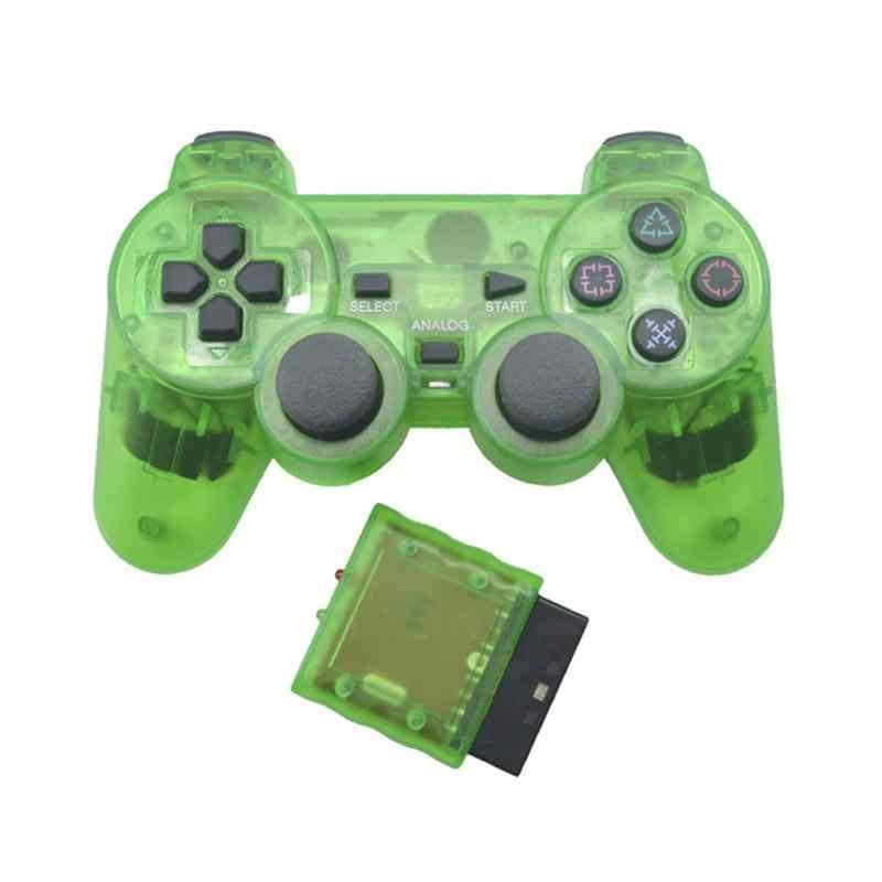 透明色のbluetoothワイヤレスゲームパッドコントローラソニーplastationためPS2 2.4 グラム振動controle 2 ジョイスティックr30