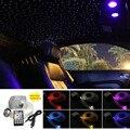 เพลง Active 10W RGBW Twinkle LED ไฟเบอร์ออปติกโคมไฟเพดานชุด 150/200pcs * 0.75 มม. * 2M ไฟเบอร์รถ Starry ไฟ