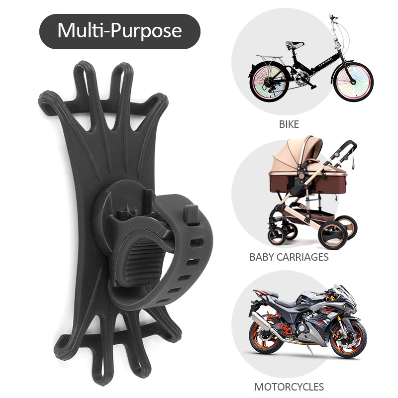 Universal Motorcycle Mobile Phone Holder Bike Handlebar Stand BracketBicycle Phone Holder For IPhone 7 XS Max Samsung Xiaomi 9