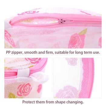 Fashionable Women Lingerie Laundry Saver Bags Bra Underwear Mesh Wash Aid Storage Net Baskets For Washing Machine Underwear Bag