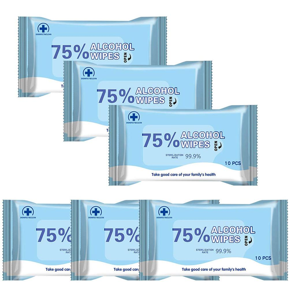 1 Pack Disposable Sterilization Disinfection Alcohol Wet Wipes Tissue Hand Sanitizing Paper Towels