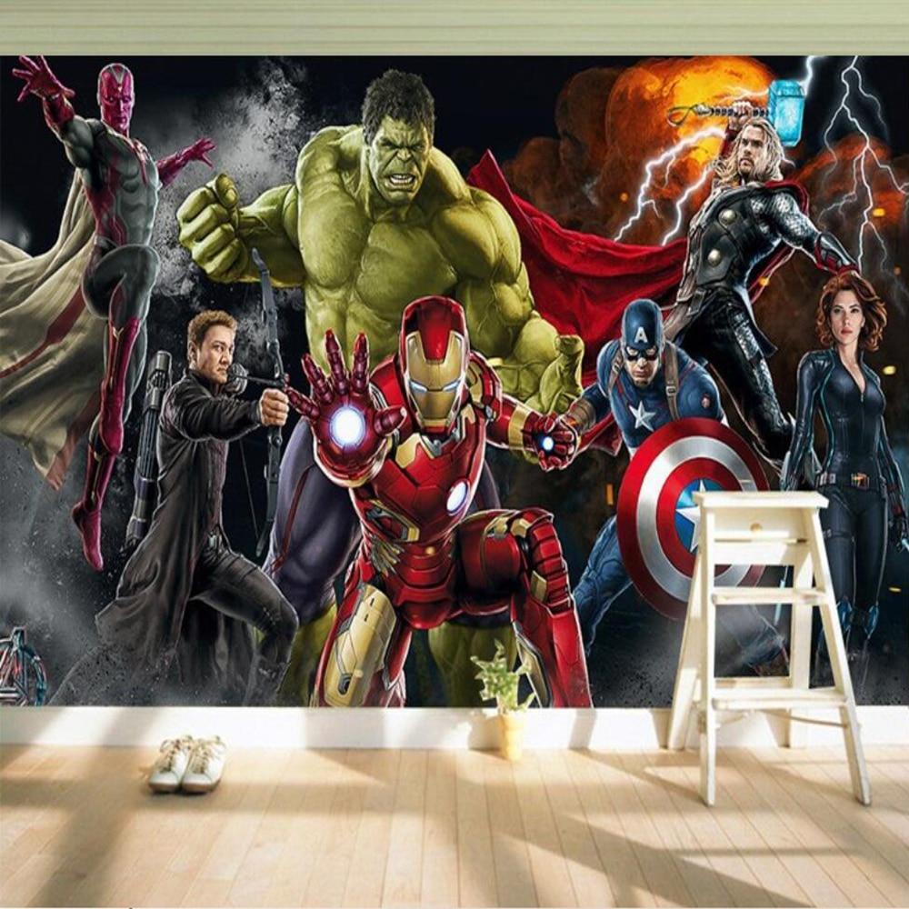 Milofi Custom 3d Wallpaper Mural Custom 3d Wall Hulk Iron Man