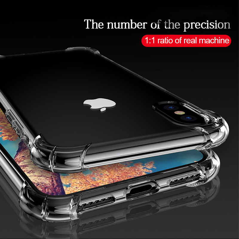 Airbag Drop Protection Shockproof Soft TPU Transparent Phone Case For iPhone 11 Pro Max X XS XR Cover For iPhone 6 6S 7 8 Plus
