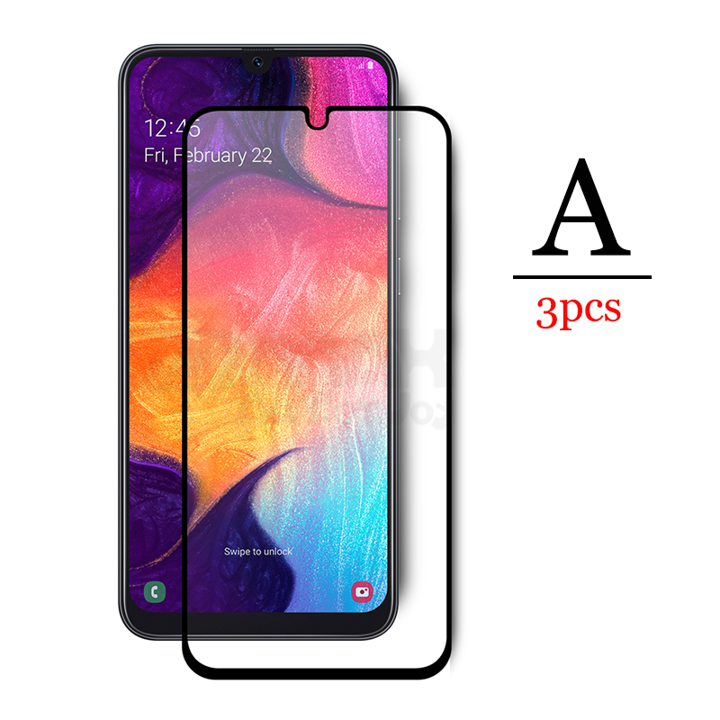 Protective <font><b>Glass</b></font> on The for Galaxy <font><b>Samsung</b></font> A30 A50 A40 A70 Screen Protector Tempered Glas <font><b>A</b></font> 30 <font><b>40</b></font> 50 70 Film Cover Set 3pcs Kit image