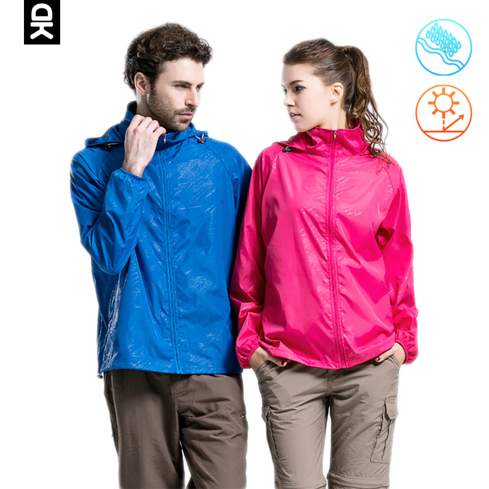 Little Donkey Andy Outdoor Jacket Women Men Windbreaker Hiking Jacket Waterproof Sun-Protective Quick Dry Lightweight Sport Coat