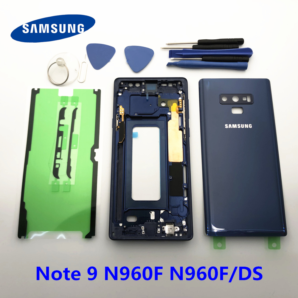 Original Full Housing Case Back Cover Glass note9 Middle Frame For Samsung Galaxy Note 9 N960 N960F N960F/DS Replace all part
