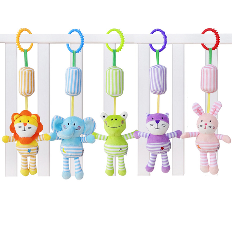 JJOVCE Neonatal Ring-Bell Baby Trolley Hanging Bell Toy Baby Bed Ring Bell Toy WJ594