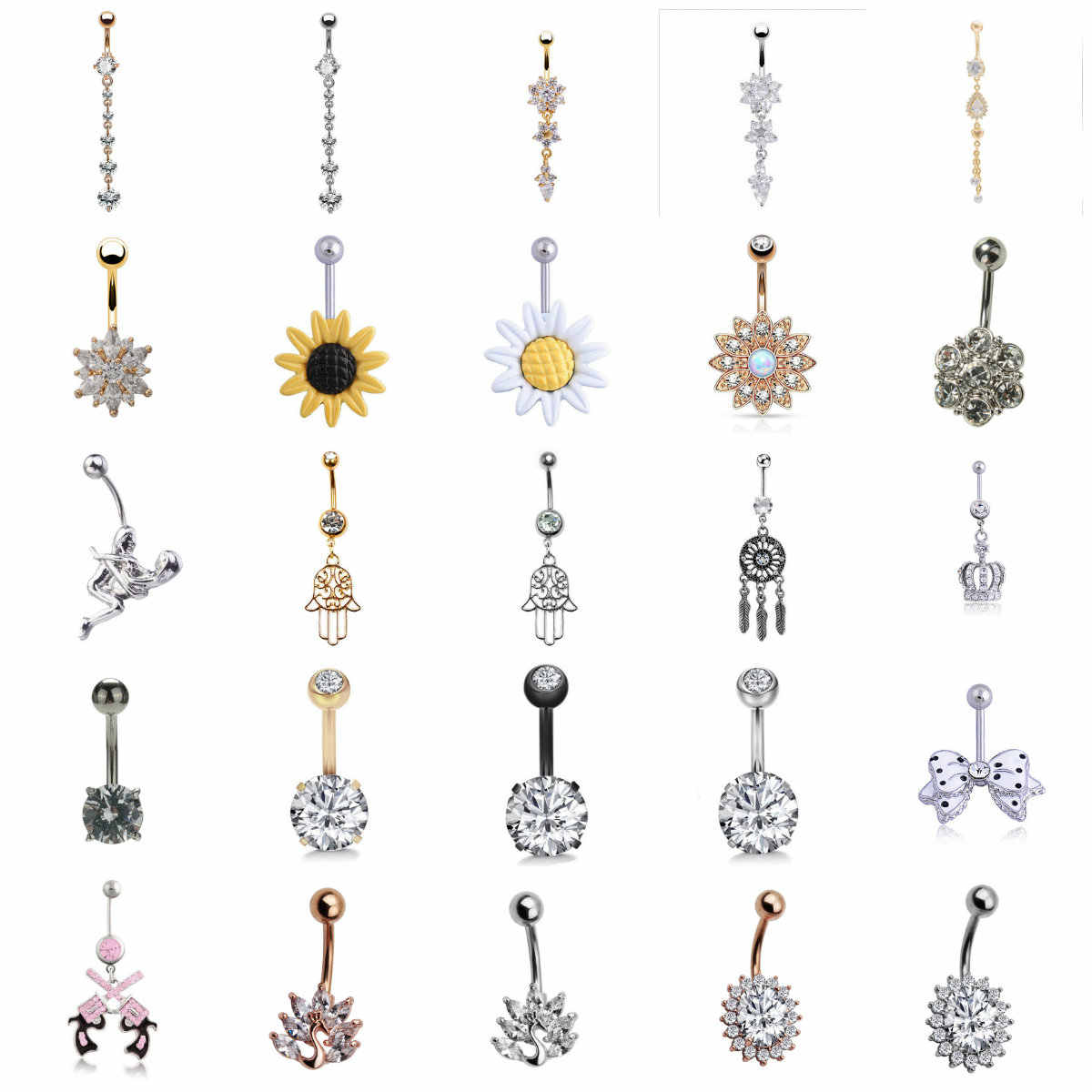 1pc Belly Button Piercings Sexy Navel Piercing Belly Button Rings Nombril Ear Piercings Ombligo Navelpiercing Body Jewelry