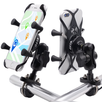 Универсальный держатель для телефона из алюминиевого сплава на руль мотоцикла, для iPhone 7/8 8 Plus Galaxy S7/S8