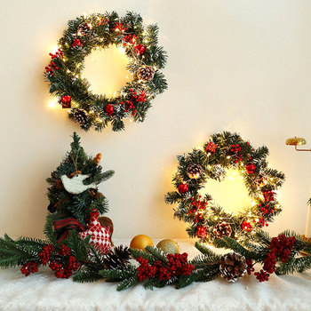 Christmas Led String Lights Xmas Garland Lamp Holiday Lighting Battery Indoor Christmas Decoration For Home Happy New Year 2021 christmas garland rattan with christmas ornaments for christmas xmas decoration home warm white lighting shop window display