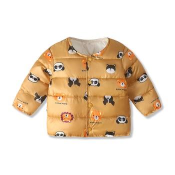 Panda Baby płaszcz zimowy dla dzieci odzież dla dzieci odzież dla maluchów kurtka z bawełny płaszcze dla niemowląt odzież dla niemowląt tanie i dobre opinie Moda Unisex O-neck Dół COTTON REGULAR Pasuje prawda na wymiar weź swój normalny rozmiar Suknem Drukuj