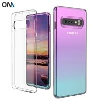 Funda de silicona para Samsung Galaxy S10 S10e 5G, funda suave transparente de TPU para Samsung Galaxy S10 Plus / Lite