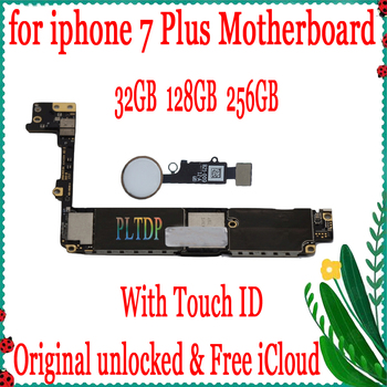 for iphone 7 Plus 5.5inch Motherboard with/No Touch ID,100% Original unlocked for iphone 7Plus Mainboard with Free iCloud
