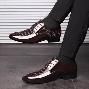 Formal Shoes Office Footwear Business Wedding Patent Leather Fashion Autumn Spring Brand