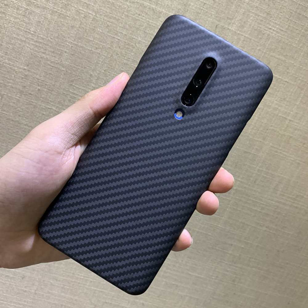 carbon fiber protective case for oneplus 7 pro back cover shell bumper aramid luxury brand original