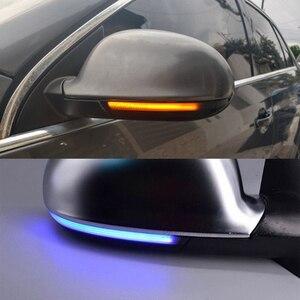 Image 1 - 2x dinâmico led turn signal light side espelho indicador blinker para vw passat b6 golf 5 jetta mk5 passat b5.5 gti v sharan excelente