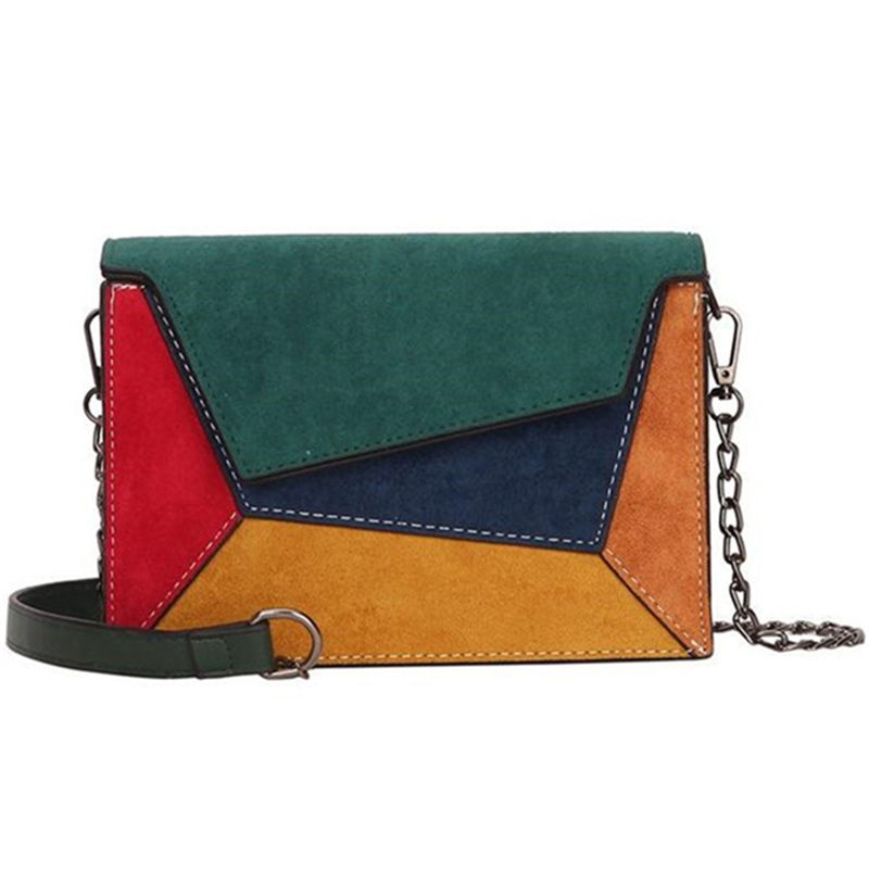 New Spring Summer Female Small Flap Bag New Trend Matte PU Patch Shoulder Messenger Bag Panelled Color Fashion Small Square Bag
