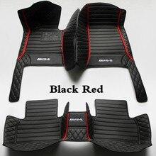 Alfombrillas impermeables para coche, alfombra para automóvil, color negro y rojo, para Mercedes Benz GLA Class GLA180, GLA200, GLA250, GLA45, AMG, X156, H247