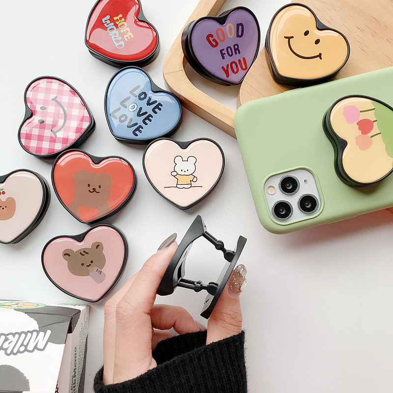 Cute Cartoon Ring Stand Mobile Phone Folding Stand Mobile Phone Stand Mobile Phone Holder Base For IPhone X 8 7 Xiaomi