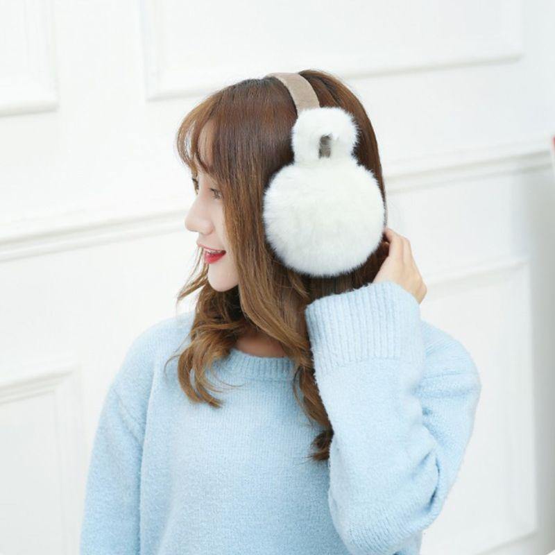 Fashion Plush Ear-cap Cute Women Girls Warm Comfortable Earmuffs Protec A69C
