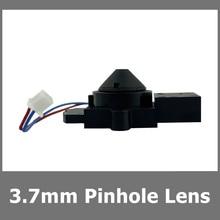5PCS 3.7mm חריר מעקב עדשת M12 הר מיני מתכת וזכוכית 3.0MP 1/2.7 אינץ 85 תואר רחב זווית עם IR Cut