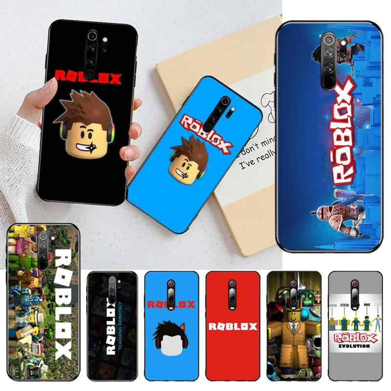 Yjzfdyrm Roblox Games Black Tpu Soft Phone Case Cover Voor Redmi Note 9 8 8A 8T 7 6 6A 5 5A 4 4X 4A Go Pro