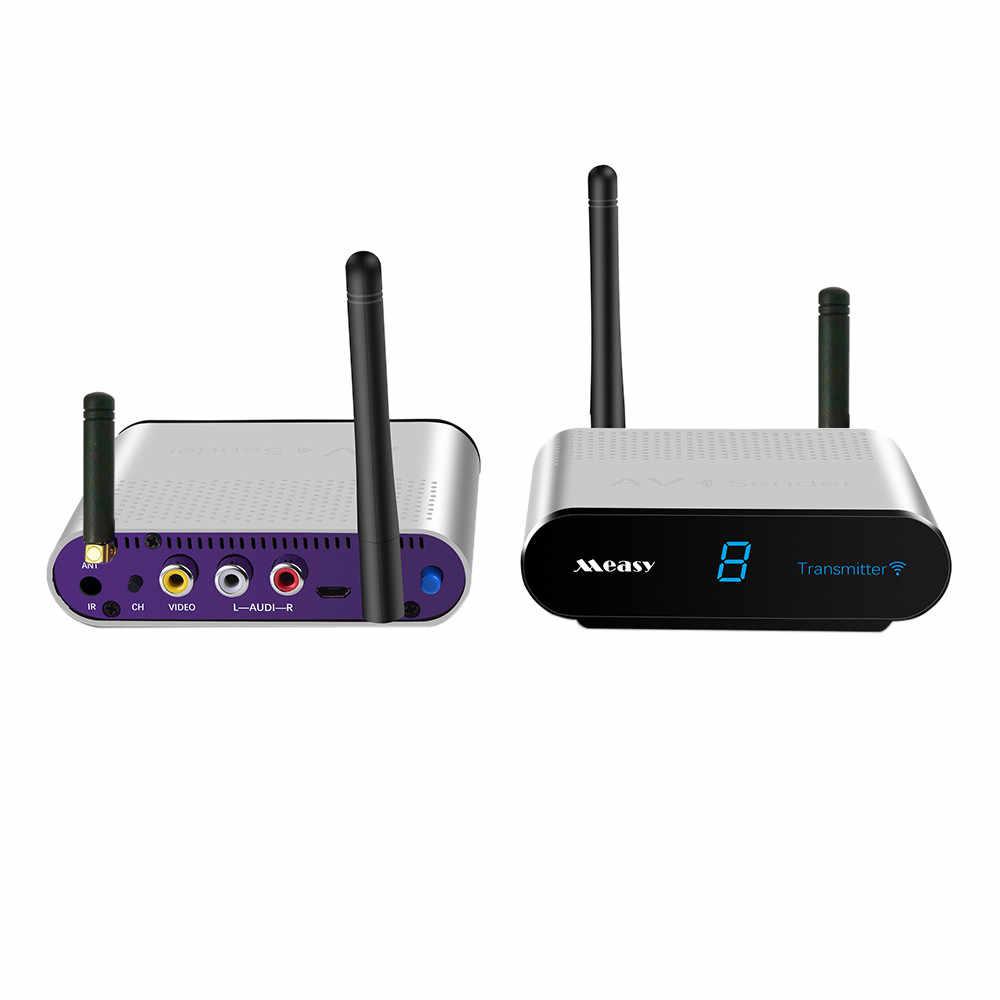 Measy 5.8GHz قمة مجموعة مربع اللاسلكية الفيديو المشتركة الارسال و استقبال DVD ، IPTV ، جهاز استقبال قمر صناعي ، التلفزيون الرقمي تعيين كبار مربع الخ