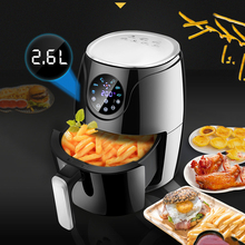Smart Touch Screen Air Fryer Oil-free Electric Fryer 2.6L High Capacity Timing Non-stick Pan Multifunction Household Health Easy