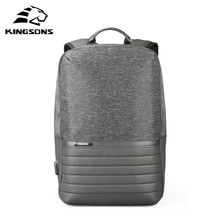 Kingsons 15.6 Men Backpacks Fashion Anti-theft for School Casual Rucksack Daypack Nylon Laptop 2019