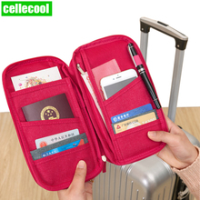 Travel Passport Wallets Credit Card Cover Large Capacity Waterproof Document Organizer Accessories Holder