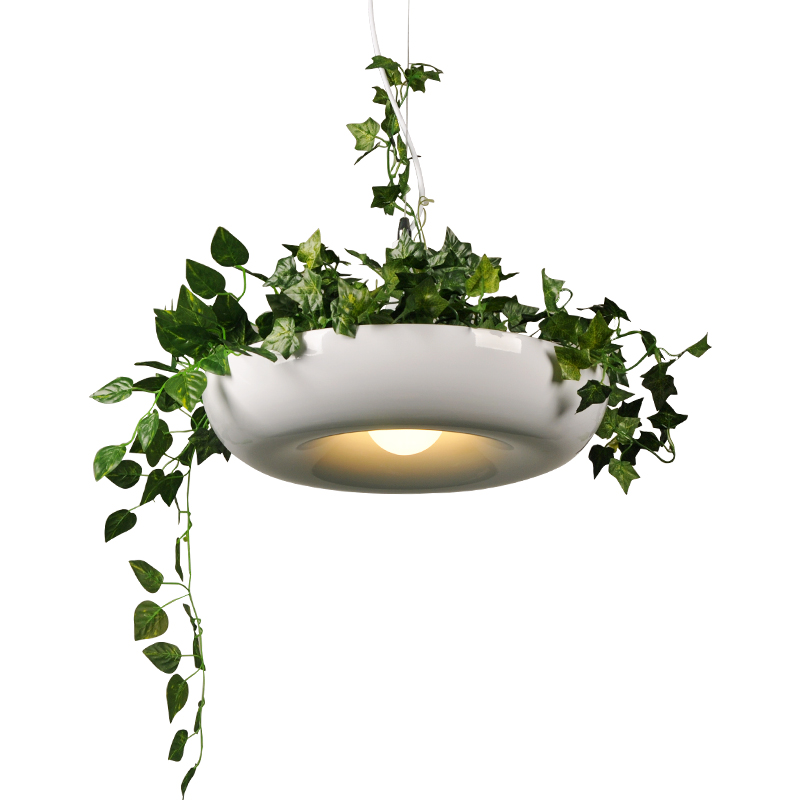 Modern Plant Pendant Lights DIY Sky Garden Flower Pot Hanging Lamp Nordic Dining Room Office Art Home Decor Lighting Fixtures