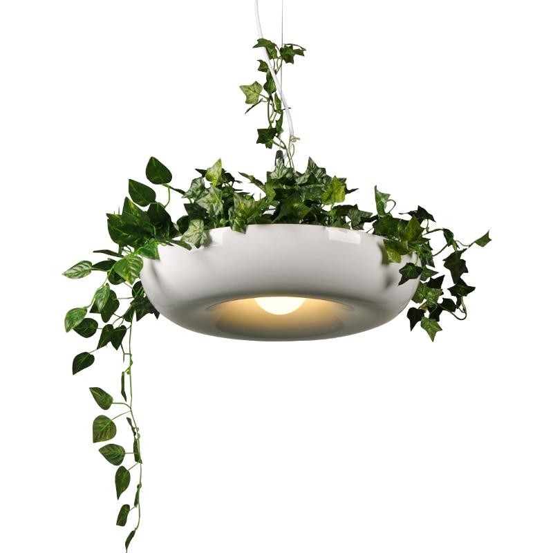 Modern Plant Pendant Lights DIY Sky Garden Flower Pot Hanging Lamp Nordic Dining Room Office Art Home Decor Lighting Fixtures