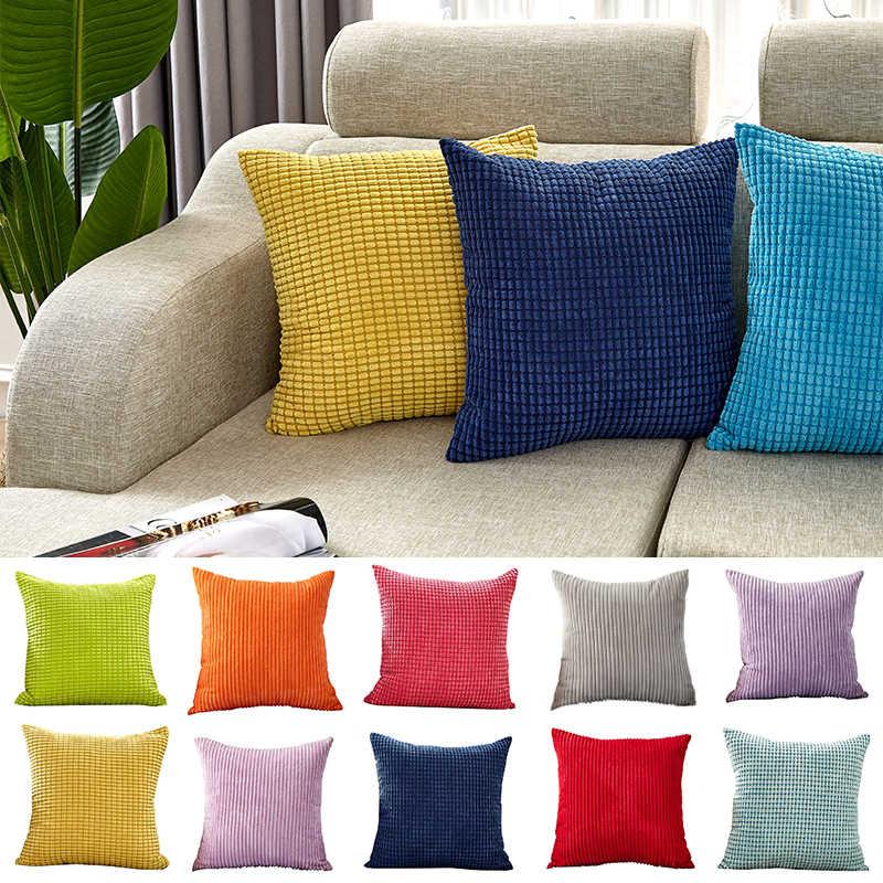 Canirica Velvet Cushion Cover Blue Throw Pillows For Living Room