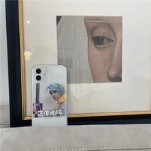 Ins transparente personagem cabeça retrato macio silicone caso de telefone para o iphone 12 pro max 11 pro max 7 8 plus x xr max xs se2 capa