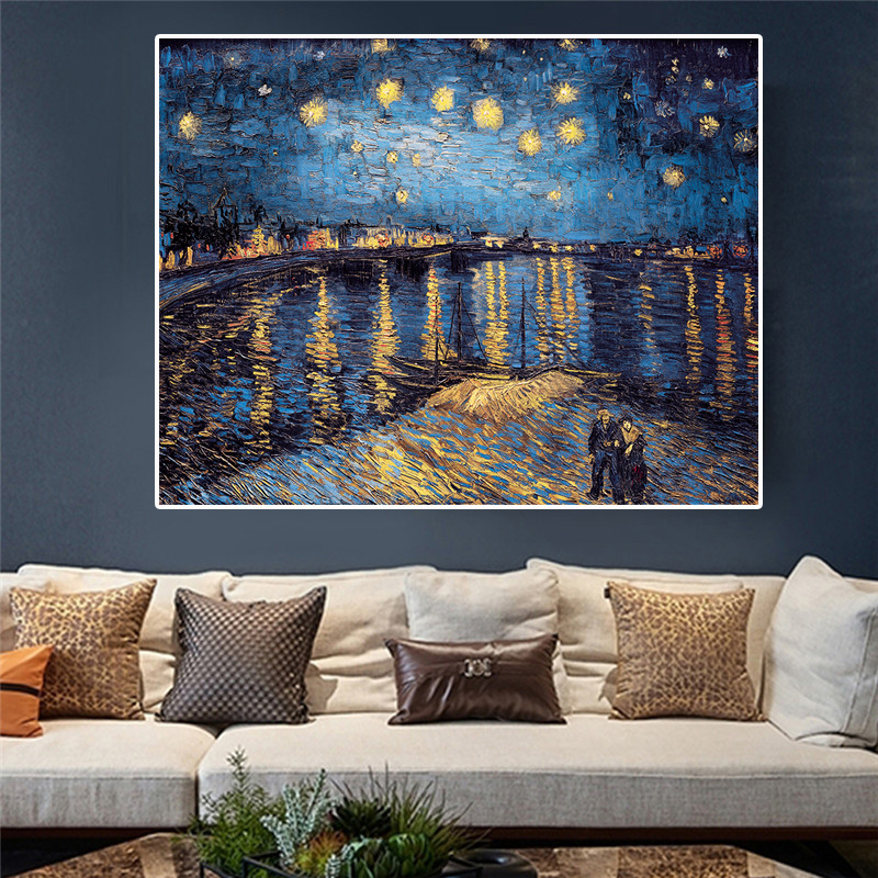 Impressionist Oil Poster Print Paint Painting Picture Canvas Room Wall Art Decor