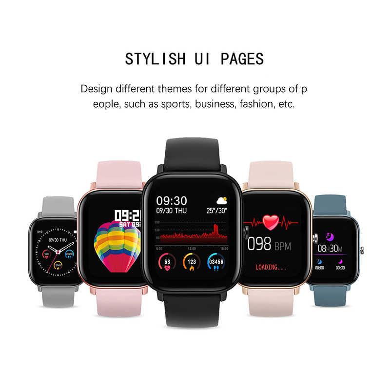 Lige2020 novo relógio inteligente para homem mulher ipx7 à prova dwaterproof água rastreador de fitness led tela cheia toque monitor de freqüência cardíaca esporte smartwatch