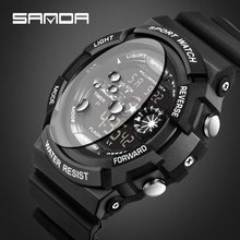 Sanda цифровые часы g стильные мужские спортивные водонепроницаемые