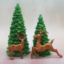 Силиконовая форма в виде рождественской елки для украшения торта