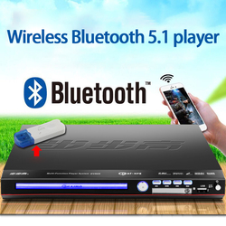 KYYSLB 11-19W DVD Player Home Evd Vcd Cd Player DVD Bluetooth Player 5.1 Channel Game Console