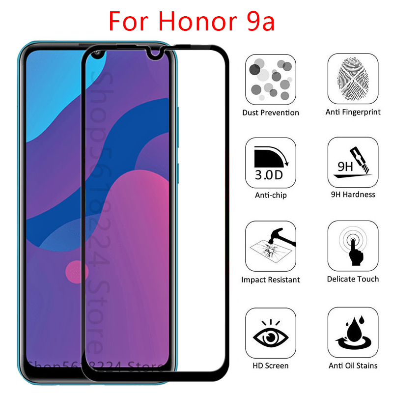 tempered <font><b>glass</b></font> on <font><b>honor</b></font> 9a <font><b>protective</b></font> <font><b>glass</b></font> for huawei honor9a play <font><b>9</b></font> a a9 glas screen protector front phone film 6.3 safety <font><b>3d</b></font> image
