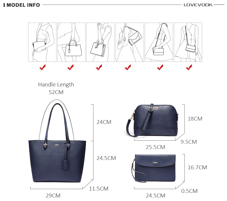 H9008a11ad2484321a47bf96267dd279b7 - women shoulder bags crossbody bags for ladies large tote bag set 3 pcs clutch and purse luxury handbag women