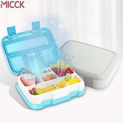 MICCK 휴대용 도시락 상자 어린이를위한 구획 새로운 만화 Microwavable Bento 상자 Leakproof 식품 용기 선물 식기