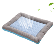 Dog Mat Cooling Summer Pad Mat For Dogs Cat kennel S/M/L  Washable Breathable Ice Silk Pet Cooling Supplies cartoon kennel pet supplies s m l size animal house circular cartoon dog kennel cat kennels all removable and washable dog mat