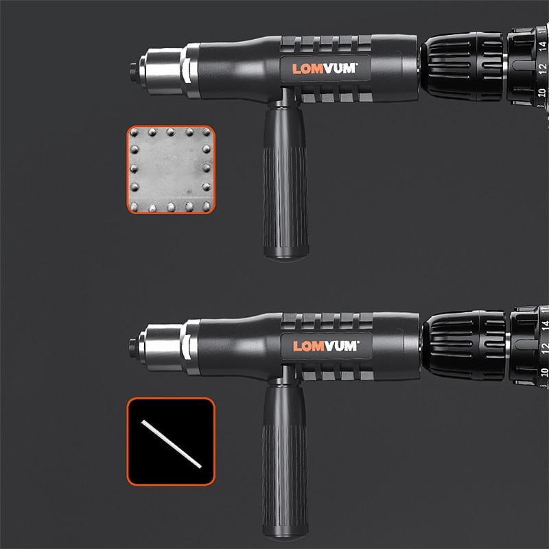 Hot Deals∩LOMVUM Drill-Riveting-Tool Accessorie Gun Cordless