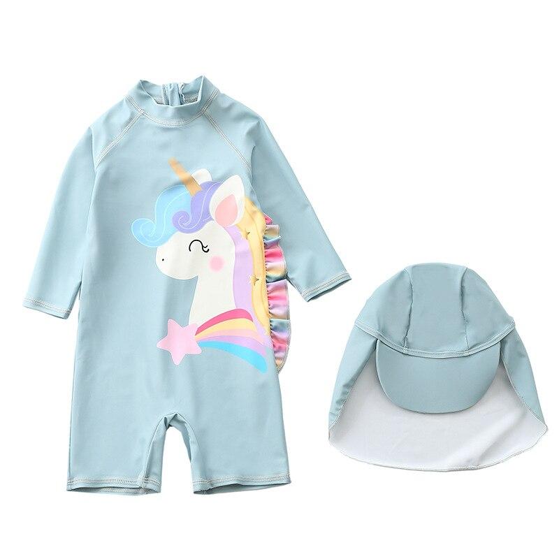 Купальный костюм для девочек Цельный Детский купальник купальные
