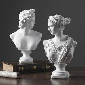 European Resin David Venus Head Statue Home Livingroom Goddess Sculpture Figurines Decoration Office Desktop Furnishing Crafts